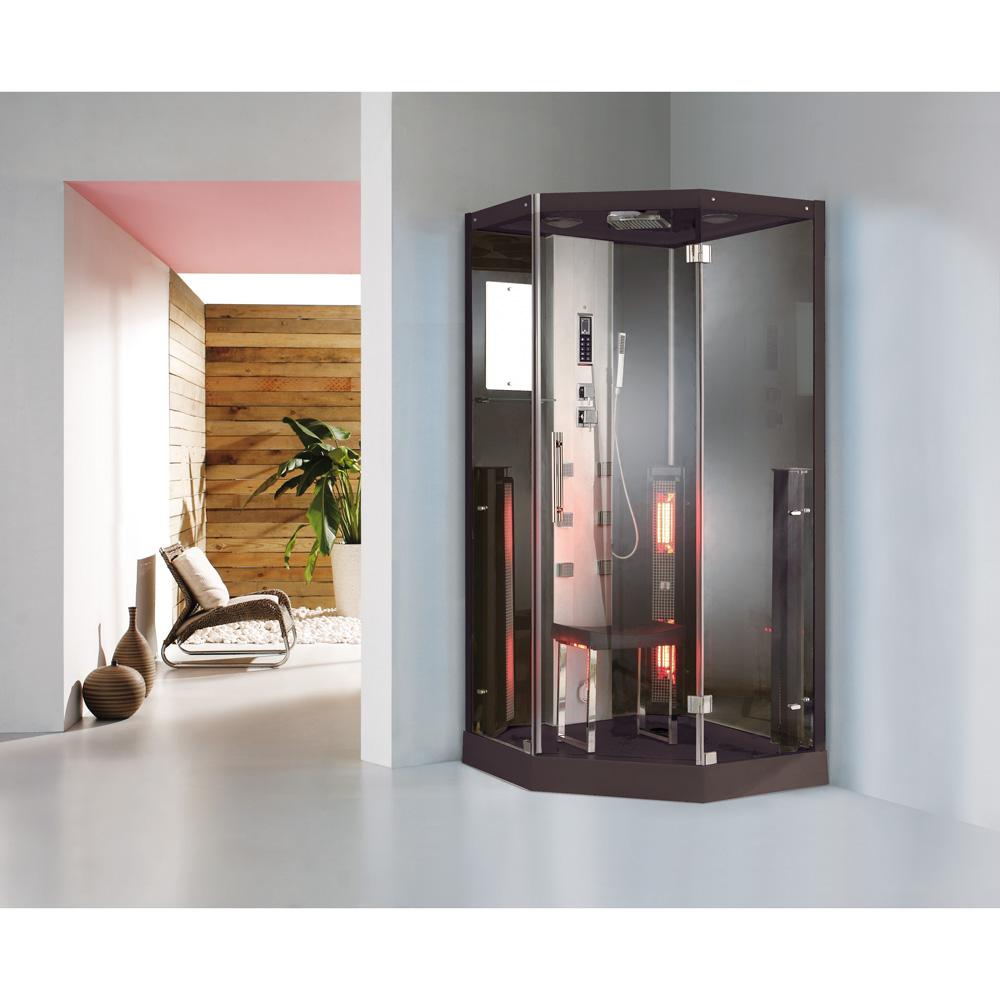 steam shower with sauna infrared model k002 abcbath styl. Black Bedroom Furniture Sets. Home Design Ideas