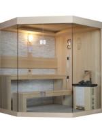 Sauna narożna model M011