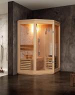 Sauna narożna model M017