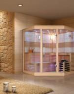 Sauna narożna  model M019