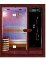 Sauna z kabiną prysznicową model 35